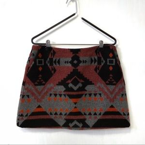 GAP Aztec Southwester Print Wool Blend Skirt